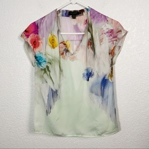 Ted Baker Floral Shirt Sleeve Blouse 0